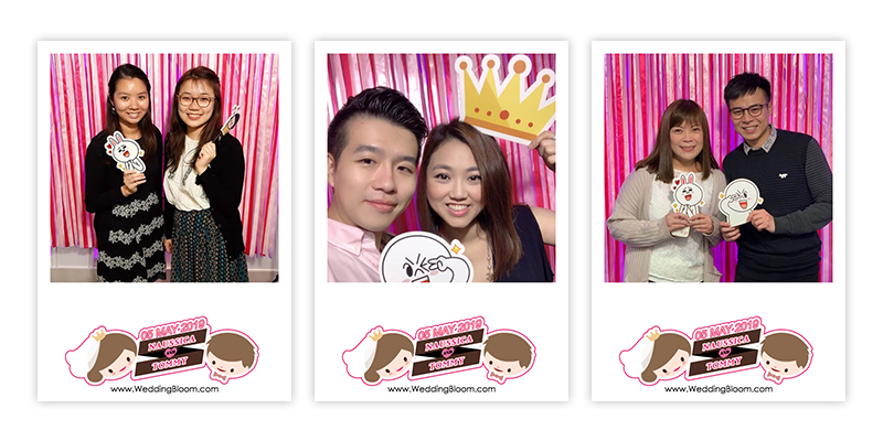 ♥Naussica & Tommy♥ WEDDING PHOTOBOOTH @ 彩晶軒 Colour Crystal Restaurant